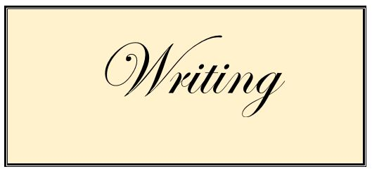 Writing- separates us from the beasts